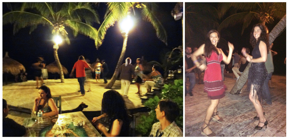 A fun evening out dancing & watching the amazing locals Salsa dancing.
