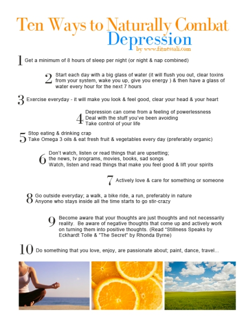 10 Way to Combat Depression SMALL